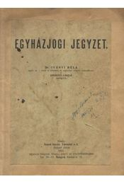 Egyházjogi jegyzet - Régikönyvek
