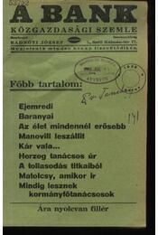 A Bank 1938. június - Régikönyvek