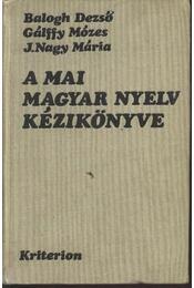 A mai magyar nyelv kézikönyve - Régikönyvek