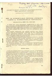 Két- és háromnyaras pontyok( Cyprinus carpio l.) haematológiai vizsgálata - Régikönyvek