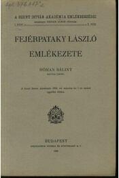 Fejérpataky László emlékezete - Régikönyvek
