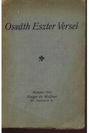 Osváth Eszter versei (dedikált) - Régikönyvek