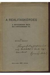 A realitáskérdés - Régikönyvek