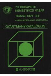 79. Budapesti Nemzetközi Vásár Tavaszi BNV '84 - Régikönyvek