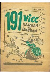 191 vicc rajzban és írásban - Régikönyvek
