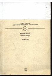 Kauser Lipót emlékkönyv - Régikönyvek
