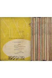 Nagyvilág 1959. évfolyam 1-12. (hiányos) - Régikönyvek