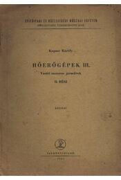 Hőerőgépek III. - Régikönyvek