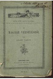 A magyar verselésről - Régikönyvek