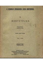 Büntetőjog - Régikönyvek