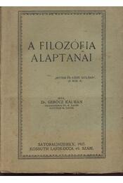 A filozófia alaptanai - Régikönyvek