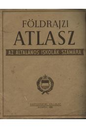 Földrajzi atlasz - Régikönyvek