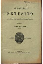 Akadémiai értesítő - 1904/11 - Régikönyvek