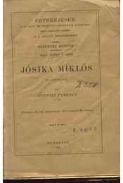 Jósika Miklós (székfoglaló) - Régikönyvek