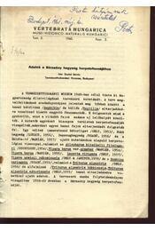 Adatok a Börzsöny hegység herpetofaunájához - Régikönyvek