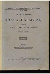 Közgazdaságtan I. - Régikönyvek