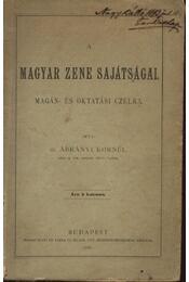 A Magyar zene sajátságai - Régikönyvek