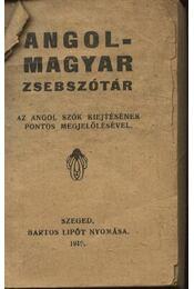 Angol - magyar zsebszótár - Régikönyvek