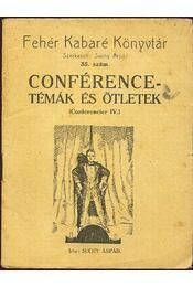 Conférence-témák és ötletek - Régikönyvek
