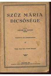 Szűz Mária dicsősége - Régikönyvek