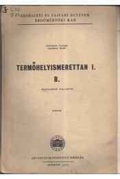 Termőhelyismerettan I. B. - Régikönyvek