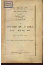 A törvényes öröklés rendje az Árpádok korában - Régikönyvek