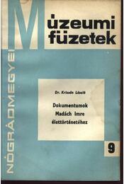 Dokumentumok Madách Imre élettörténetéhez - Régikönyvek