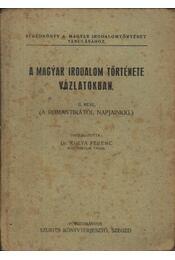 A magyar irodalom története vázlatokban II. rész - Régikönyvek