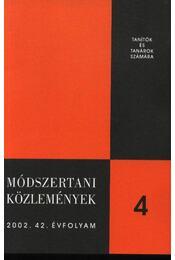 Módszertani közlemények 2002. 42. évf. 4. sz. - Régikönyvek