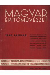 Magyar Építőművészet 1942. január - Régikönyvek