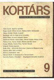 Kortárs 1977. szeptember - Régikönyvek