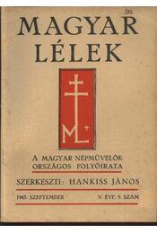 Magyar Lélek 1943. szeptember - Régikönyvek