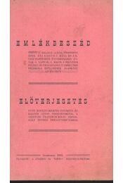 Emlékbeszéd; Előterjesztés - Régikönyvek