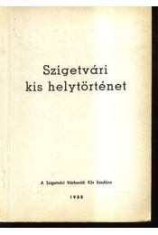 Szigetvári kis helytörténet - Régikönyvek