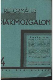 Református Diákmozgalom 1929. december - Régikönyvek