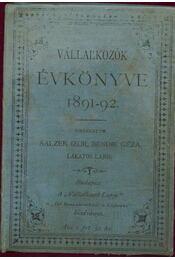 Vállalkozók évkönyve 1891-2. évre - Régikönyvek