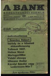 A Bank 1938. február - Régikönyvek