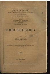 Emir Khoszrev - Régikönyvek