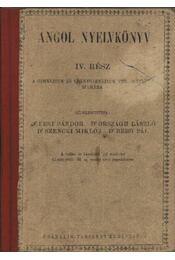 Angol nyelvkönyv IV. rész - Régikönyvek