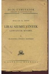 Lírai szemelvények - Régikönyvek