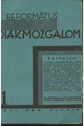 Református Diákmozgalom 1929.szeptember - Régikönyvek