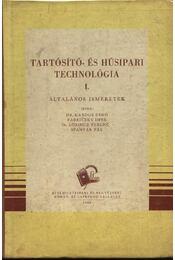 Tartósító- és húsipari technológia I-III. kötet - Régikönyvek
