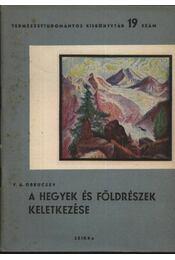 A hegyek és földrészek keletkezése - Régikönyvek
