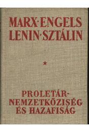 Proletárnemzetköziség és hazafiság - Régikönyvek