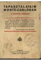 Tapasztalataim Monte-Carlóban - Régikönyvek