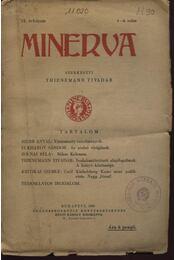 Minerva 1930 IX.évfolyam 1-4.szám - Régikönyvek