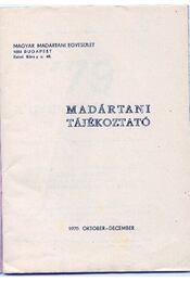 Madártani tájékoztató 1979. október-december - Régikönyvek