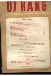 Új Hang 1952/5 - Régikönyvek