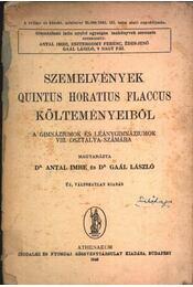 Szemelvények Quintus Horatius Flaccus költeményeiből - Régikönyvek