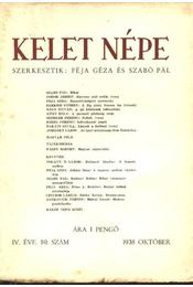 Kelet népe IV. évfolyam, 10. szám - Régikönyvek